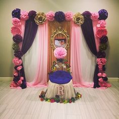 Cradle ceremony backdrop and decorations by #BellaPartyDecor in Chandler AZ.