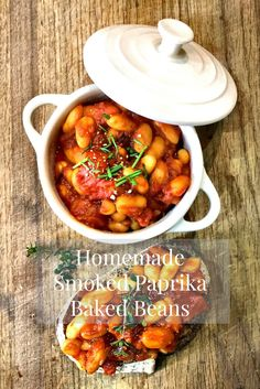 Homemade Smoked Paprika Baked Beans healthy and nutritious breakfast recipe #breakfast #breakfastrecipes #healthybreakfast #breakastideas #fathersdaybreakfast #homemadebakebeans #nutritousbreakfast