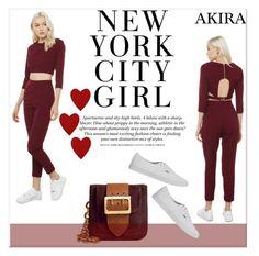 """""""Akira II/2"""" by amra-mak ❤ liked on Polyvore featuring moda, Akira Black Label, Burberry, Vans, H&M y shopakira"""