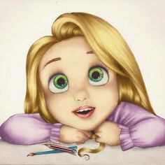 Kristina Webb Art Baby Tangled Drawing