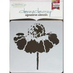Donna Downey Signature Stencils - Cone Flower [DD-097]