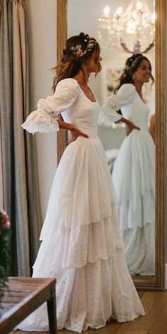 Modest Wedding Dresses With Sleeves, Evening Dresses For Weddings, Lace Weddings, Dream Wedding Dresses, Bridal Dresses, Gown Wedding, Wedding Cakes, Wedding Rings, Wedding Hijab