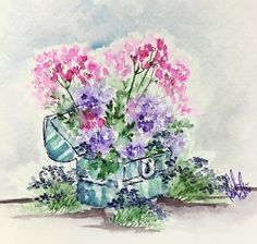 your chest of flowers request! ❤️ Thank you my sweet WC friend! Art Impressions Stamps, Watercolor Cards, Watercolor Ideas, Flower Cards, Creative Cards, Note Cards, Card Making, Tapestry, Instagram Posts
