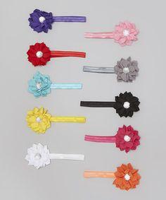 Look at this #zulilyfind! Bright Floral Headband Set by Diva Daze #zulilyfinds