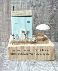 Check out this item in my Etsy shop https://www.etsy.com/uk/listing/541688797/beach-house-driftwood-art-wood-house