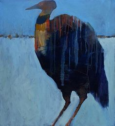 Mel McCuddin, The Ice Fisher oil on canvas