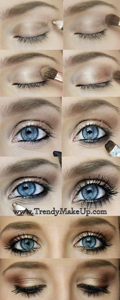 Simple eye look if you need to amp up your everyday routine! All you need is a little time, some bronze pencil eyeshadow, light copper tone eyeshadow, creamy black eyeliner, liquid eyeliner; some mascara!