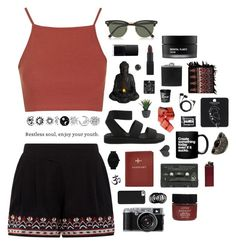 """""""Restless soul"""" by a-ttitude ❤ liked on Polyvore featuring Topshop, Ray-Ban, Serge Normant, BLACK BROWN 1826, Koh Gen Do, NARS Cosmetics, Fountain, Cheap Monday, FOSSIL and adidas Originals"""