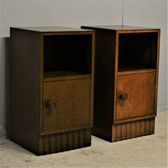Vintage Bedside Table Cabinet pair Of Nightstands Dark Delivery Available