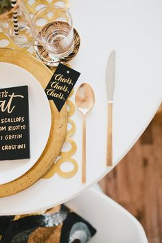 All Gold Everything – New Year's Eve Table Inspiration - Styled by Beijos Events