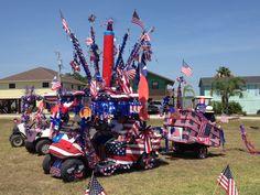 4th of July golf cart parade 2013