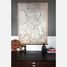 Providence Pull-Down Map, $320, now featured on Fab.