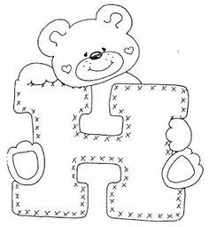 4 Modelos de Alfabeto Completo para Colorir e Imprimir - Online Cursos Gratuitos Printable Coloring Pages, Colouring Pages, Coloring Sheets, Coloring Books, Applique Patterns, Quilt Patterns, Baby Motiv, Alphabet Templates, Cute Letters
