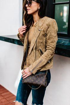 My Favorite Jeans Under $100 Styled Two Ways | Alyson Haley #lvcrossbodybag #motojacket #trendsforfall