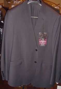 Marks & Spencer Charcoal Gray Size 44 R Travel Super Lite Blazer Jacket New NWT #MarksSpencer #TwoButton