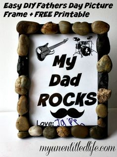 DIY fathers day picture frame do crafts with the kids and diy gift idea