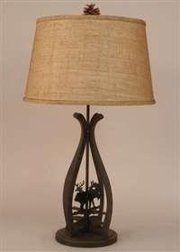 Moose/Whitetail Iron Table Lamps