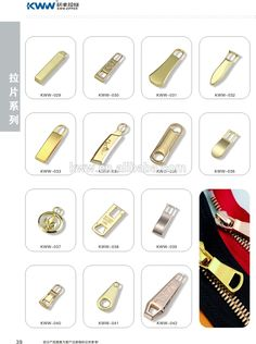 light shiny metal zipper puller (plating) personalization is welcomed. Exporters & Importers