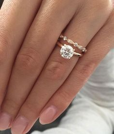 Sylvia Billone has the most popular engagement ring on the internet and Pinterest right now, with the rose gold, solitaire diamond the most pinned. #solitairediamondring