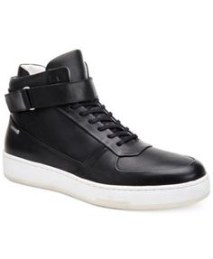 CALVIN KLEIN Calvin Klein Men'S Navin Fashion Athletic Leather High-Top Sneakers. #calvinklein #shoes # all men