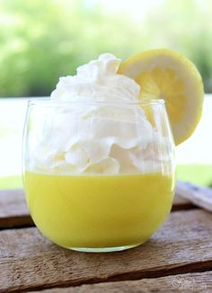 Lemon Weight watchers dessert- No bake, 2 ingredients! Tastes so refreshing
