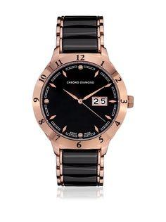 55e723030e3d Chrono Diamond Reloj con movimiento cuarzo suizo Man 10400A Negro 42 mm en Amazon  BuyVIP