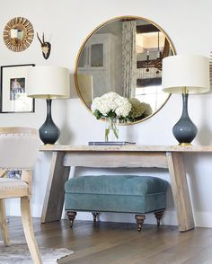 Inspirational Large Round Entry Table