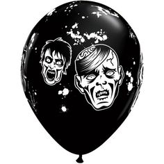 11 Inch Latex Balloons Zombies in Black