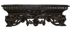 Olde World Style Ornate Leaf Design Bed Crown, Napoleon Finish