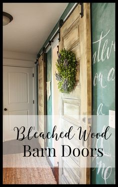 Did you know you can bleach wood?  It creates a beautiful look!  Check out these bleached wood barn doors!