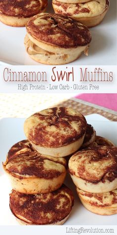 Low Carb High Protein Cinnamon Swirl Muffins (Chicken Oven)