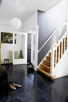 elle decor black slate floors - Google Search