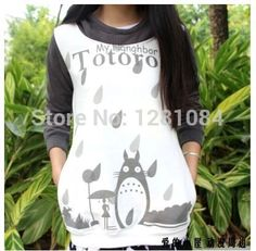 Cheap sweatshirts pullover, Buy Quality sweatshirt baseball directly from China sweatshirt apparel Suppliers: Free Shipping Women Spring and Autumn Japanese Anime Totoro hoodie Cosplay Costume Clothes Totoro  Hoody jacke