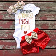 Mommy Loves Starbucks Target and Me Bodysuit by GLITTERandGLAMshop