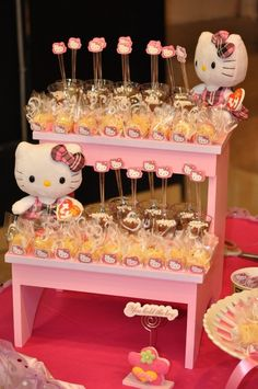 Hello Kitty Birthday Party Ideas! See more party ideas at CatchMyParty.com!