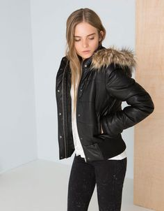 Bershka United Kingdom - BSK quilted imitation leather jacket