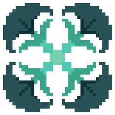 Grey blue and blue green floral cross stitch tile by crossstitchtheline. Modern twist to traditional cross stitch patterns.