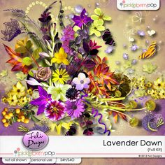 Lavander, Dawn, Floral Wreath, Scrapbooking, Wreaths, Halloween, Paper, Shop, Design