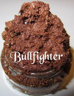 NEW Bull Fighter Bronze Sultry Brown Tawny Warm Glitter Shimmer Mineral Eyeshadow Mica Pigment 5 Grams Lumikki Cosmetics