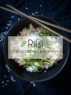 Riisin oikeaoppinen keitto | How to cook rice