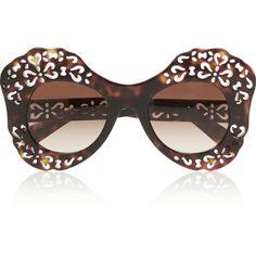 Dolce & Gabbana Oversized round-frame acetate sunglasses (5 870 ZAR) ❤ liked on Polyvore featuring accessories, eyewear, sunglasses, glasses, tortoiseshell, heart shaped sunglasses, tortoiseshell sunglasses, dolce gabbana sunglasses, acetate sunglasses and round frame sunglasses