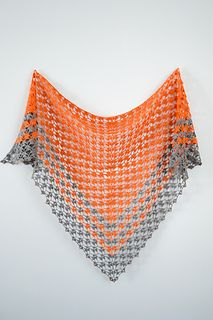 This shawl is also part of a two-pattern ebook, Linen Letters.