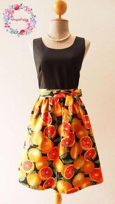 Carnival Dress Citrus Dress Orange Dress Tropical Dress Source by Dresses orange Unique Prom Dresses, Dresses For Teens, Short Dresses, Summer Dresses, Summer Clothes, Tangerine Dress, Orange Dress, Dress Black, Bodycon Dress Parties