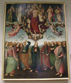 Duomo di sansepolcro, interno, perugino, ascensione - Duomo di Sansepolcro - Wikipedia