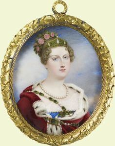 Princess Charlotte Augusta, only daughter of the future George IV and of Caroline of Brunswick. Princess of Wales. She married Prince Leopold of Saxe-Coburg-Saalfied - who eventually became Leopold I of Belgium and great counsellor to Victoria - but she died after having given birth to her first child, who also died. She was first cousin to Victoria, while Leopold was Victoria's uncle - the brother of Victoria's mother.