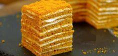 Icebox Cake Recipes, Dessert Recipes, Cold Desserts, Delicious Desserts, Best Honey Cake Recipe, Russian Honey Cake, Russian Pastries, Russian Recipes, Pastry Cake