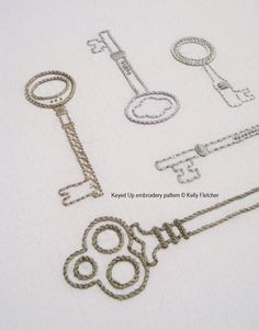 Keyed Up hand embroidery pattern