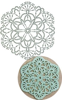 No.11 Rounded Hexagon Lace Crochet Motifs / 라운드 헥사곤 모티브도안