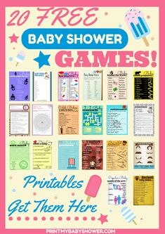 baby shower games free baby shower games get over 18 free baby