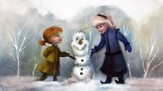 Little Anna, Elsa and Olaf! - Frozen